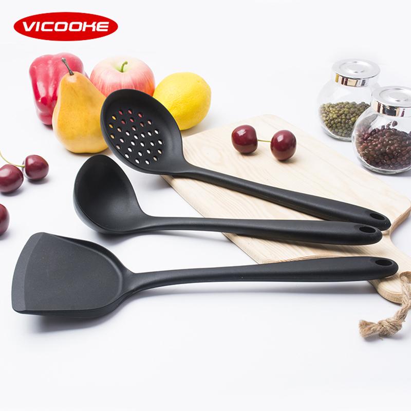 正品不粘锅专用硅胶锅铲汤勺饭勺漏勺厨具套装耐高温家用炒菜铲子