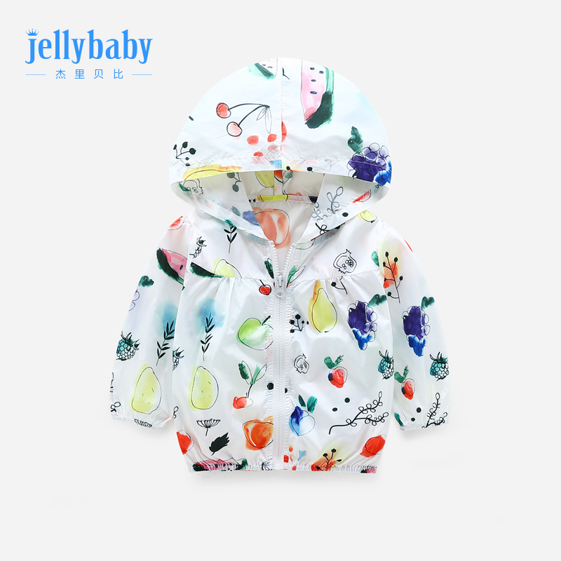 Girls sunscreen 2019 new style 2-3 years old baby summer cardigan 4 baby jacket summer thin section