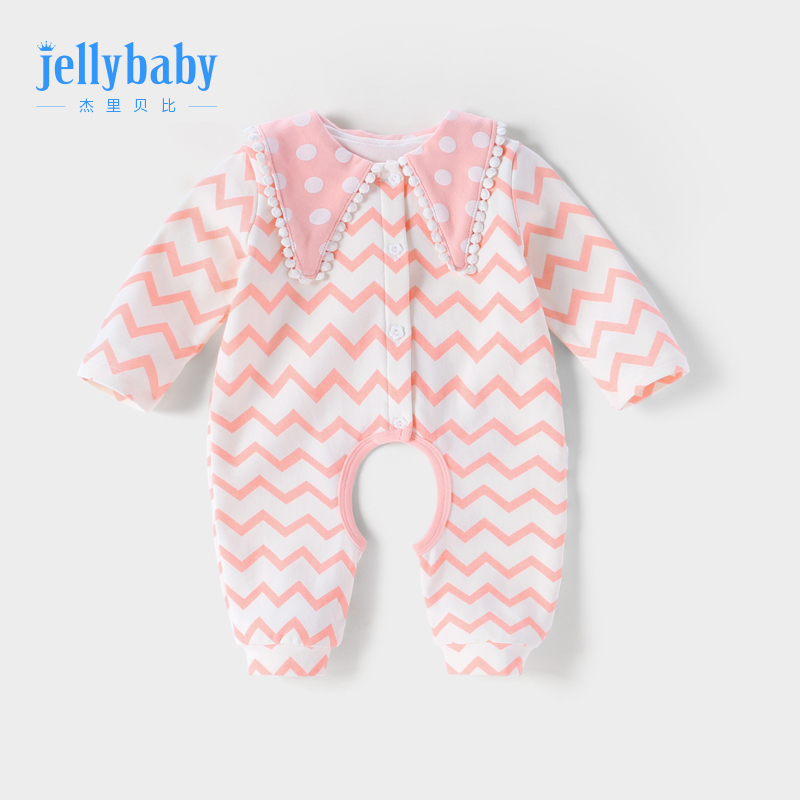 Baby jumpsuit Spring and Autumn 0-1-year-old newborn clothes female Baoha clothing open-cut climbing 2 8 months baby spring clothes.