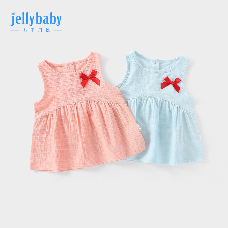 Girls shirt 2019 summer fashion 1-6 years old child girl Baby Summer foreign children 3 baby sleeveless T-shirt