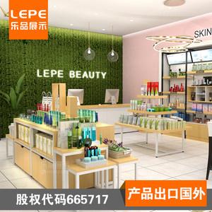 乐品 化妆品货架 药妆店展示台美容护肤品展示柜化妆店橱窗货架