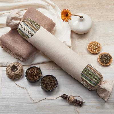 成人圆形颈椎枕劲椎病保健修复专用枕头枕芯矫正护颈枕单人荞麦枕