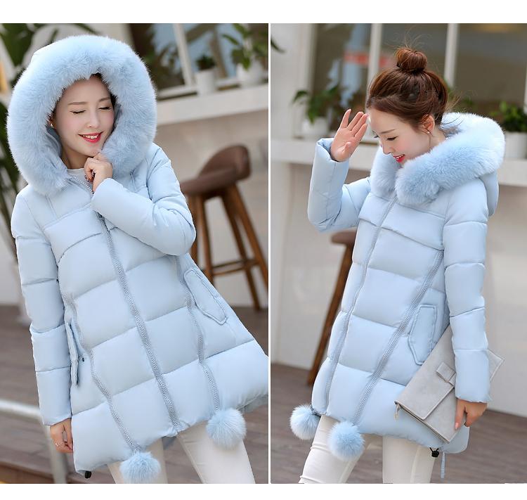 Скидки на Анти-сезон Куртки Женщин хлопка версия воротник в длинный толстый зимнее пальто пальто Корейских Студентов