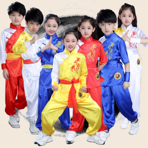 Boys Martial arts Kungfu & Tai-Chi Uniforms for Girls Children martial arts clothing performance clothing summer long and short sleeve training clothing Kung Fu martial artsl competition martial arts clothing