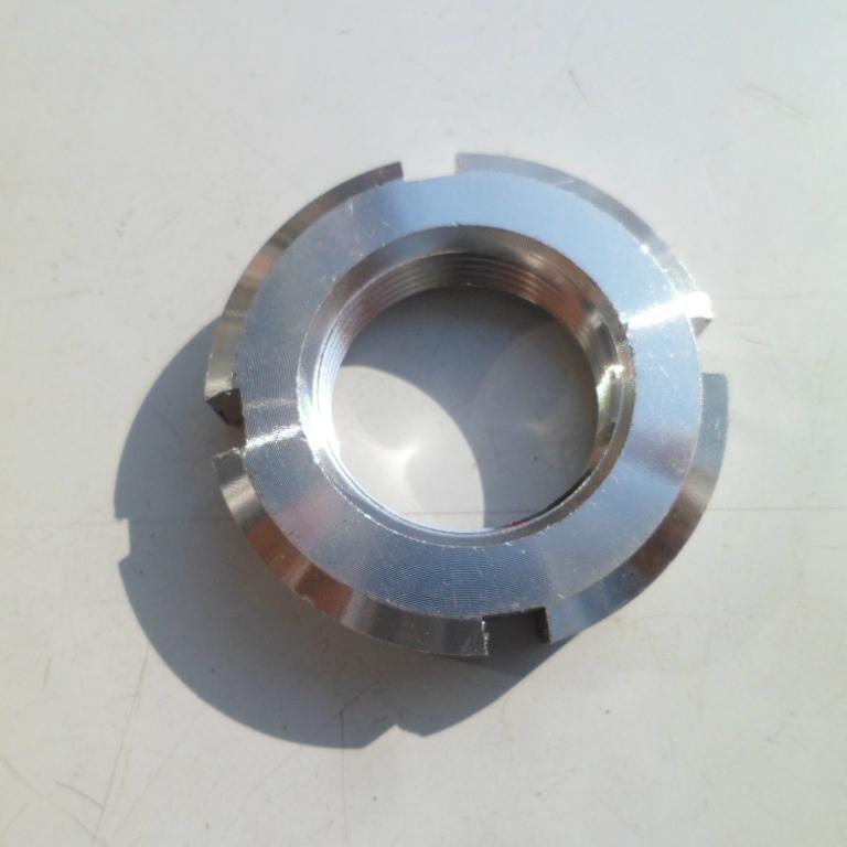 GB812 304不锈钢圆螺母 开槽螺帽M33M34M35M36M37M39M40M42*1.5*2