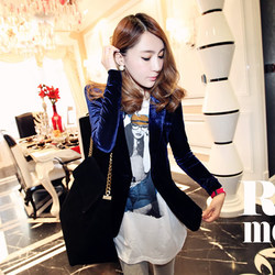 Spring and Autumn Korean star with Miss Jin Sirong small suit jacket Slim thin velvet leisure suit small