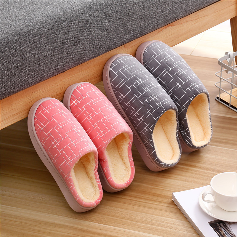 棉拖鞋女冬季居家室内防滑情侣
