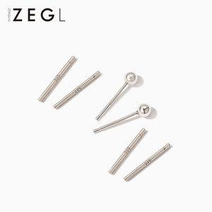 ZEGL999纯银耳钉耳棒女气质韩国简约养耳环耳针睡觉不用摘的耳饰