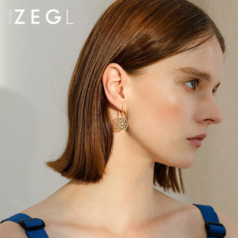 ZENGLIU кольцо форма пирсинг серьги серьги женщина темперамент корея простой серьга чистый красный хипстер серьги ухо украшения