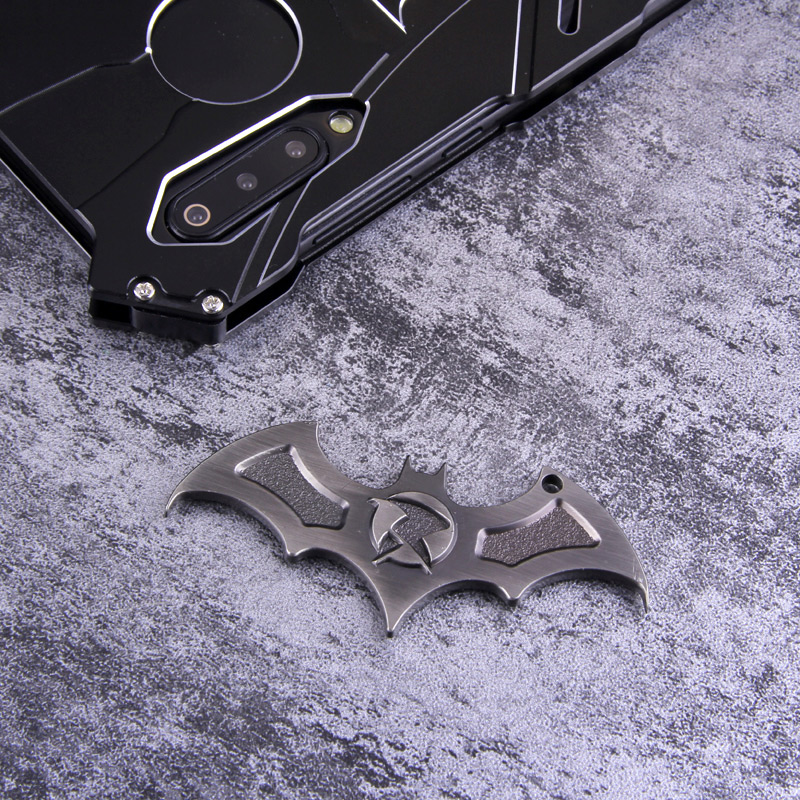 R-Just Batman Shockproof Aluminum Shell Metal Case with Custom Batarang Stent for Xiaomi Mi 9