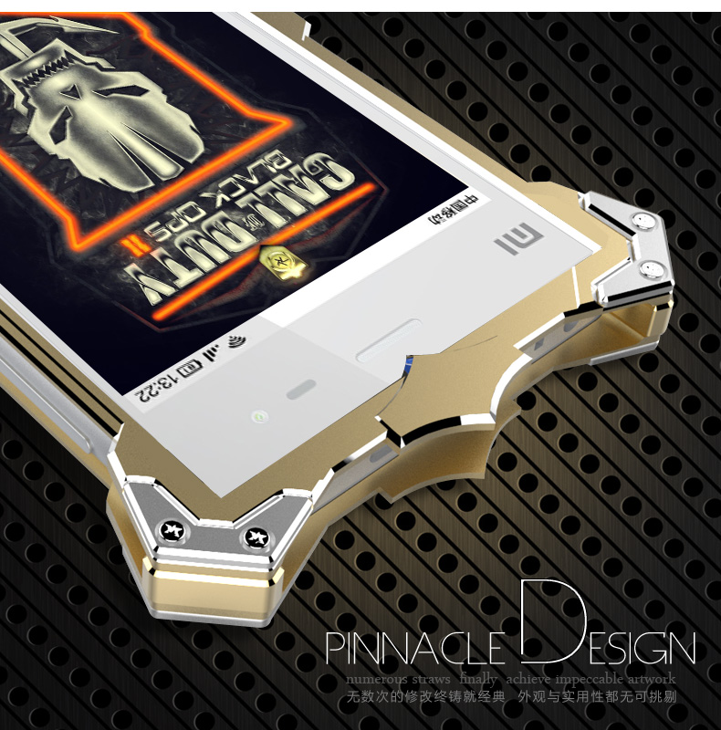 SIMON THOR Aviation Aluminum Alloy Shockproof Armor Metal Case Cover for Xiaomi Mi 3