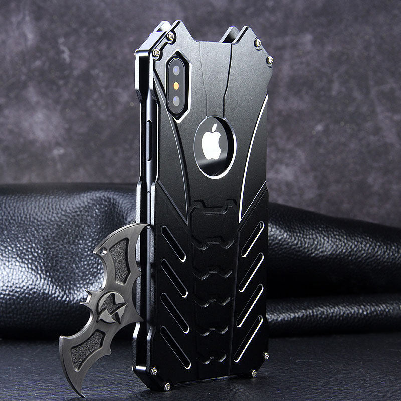 new style b9eb5 6432e R-Just Batman Shockproof Aluminum Shell Metal Case with Custom ...