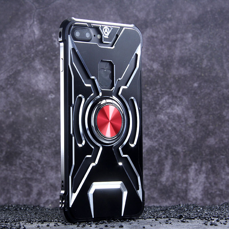 on sale 76ff9 62f33 WK Iron Man Military Grade Shockproof Screw-less Metal Case w/ Ring ...