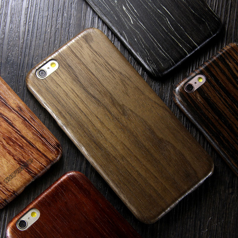 SHOWKOO Kevlar Natural Wood Ultra Slim Case Cover for Apple iPhone 6S Plus/6 Plus & iPhone 6S/6