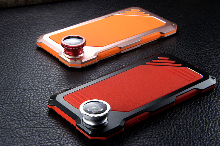 R-Just 3 in 1 Fisheye+Macro+Wide Angle Camera Lens IP54 Waterproof Dustproof Shockproof Silicone Aluminum Metal Heavy Duty Case Cover for Apple iPhone 6S Plus/6 Plus & iPhone 6S/6 & iPhone SE/5S/5