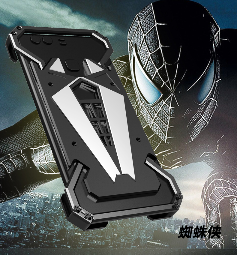 S.CENG Spider-Man Shockproof Aerospace Aluminum Metal Shell Case Cover for Huawei P9