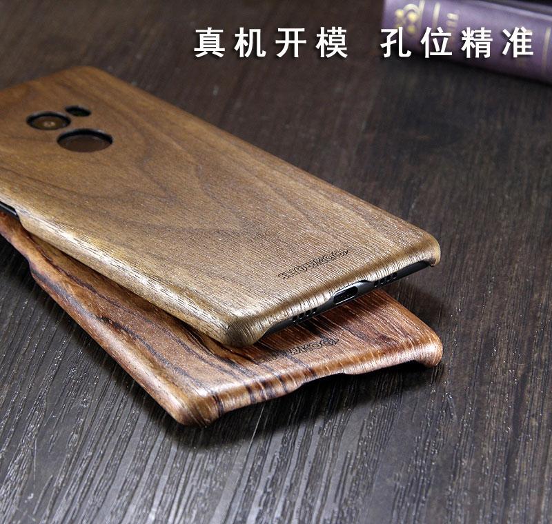 SHOWKOO Kevlar Natural Wood Ultra Slim Case Cover for Xiaomi Mi MIX 2