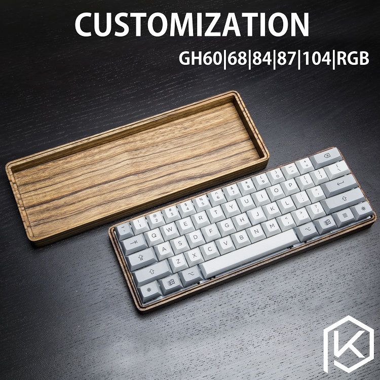 Customized mechanical keyboard GH60% 68 84 87 104 RGB kit