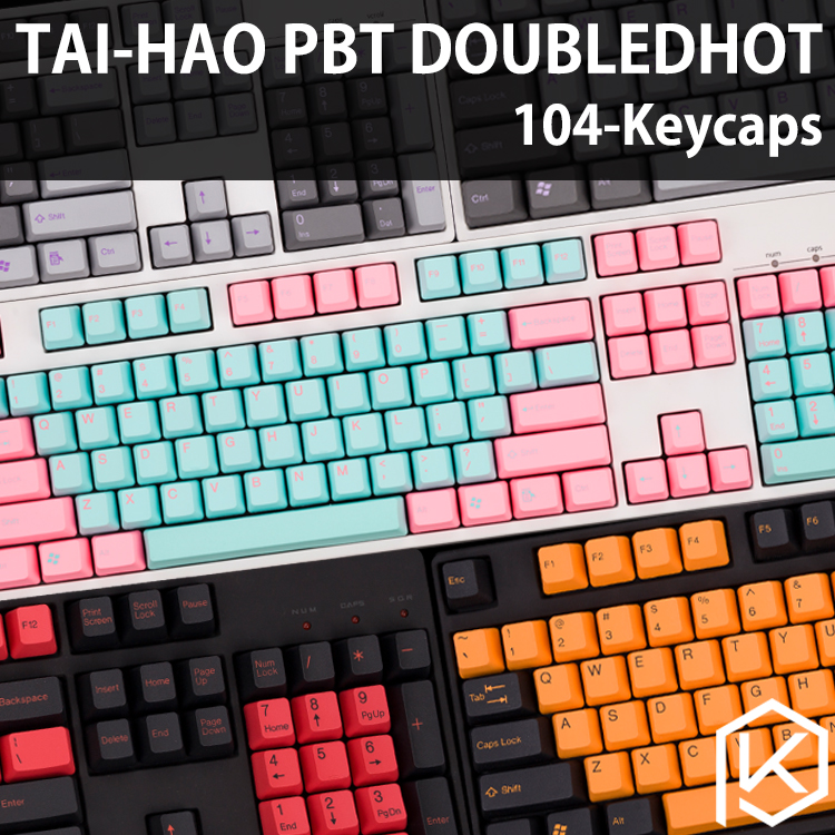Taihao pbt two-color molding keycap mechanical keyboard two-color keycap  Miami hornet black orange dark black 6G/7G