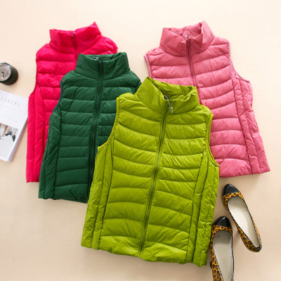 BT brand women's autumn and winter Korean thin vest short paragraph down vest 0062/0072/0082 M5