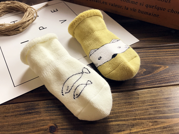雙11鉅惠 新生嬰兒襪子純棉加厚鬆口可愛0-3個月6-12男女寶寶襪子可開發票 可貨到付款