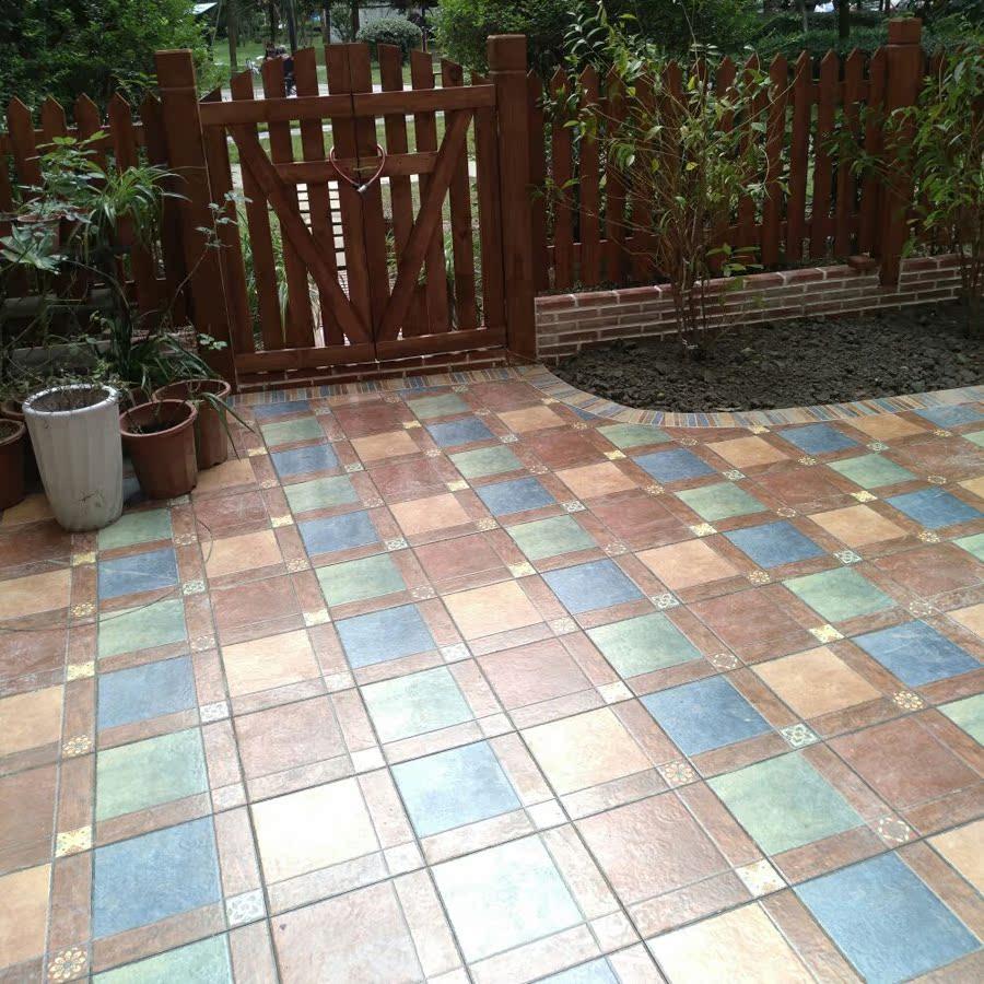 USD 5.35] American balcony patio floor tiles outdoor terrace garden ...