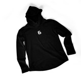 Jane series high quality pure cotton logo embroidery black hoodie basketball long sleeve shirt men