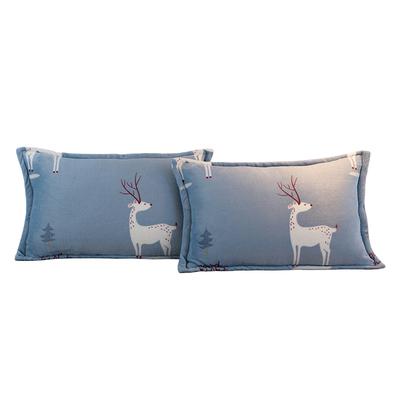 加厚法兰绒枕套冬季双面法莱枕头套包邮成人珊瑚绒枕皮单人一对装