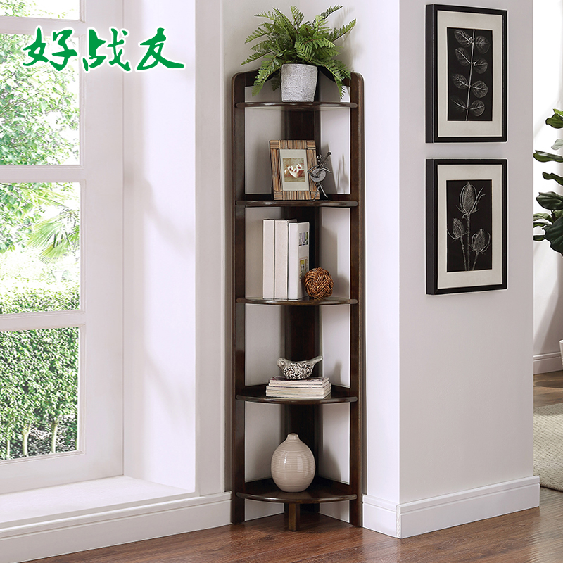 Good comrades corner shelf corner bedroom floor fan housing showy new  Chinese style living room corner bookcase
