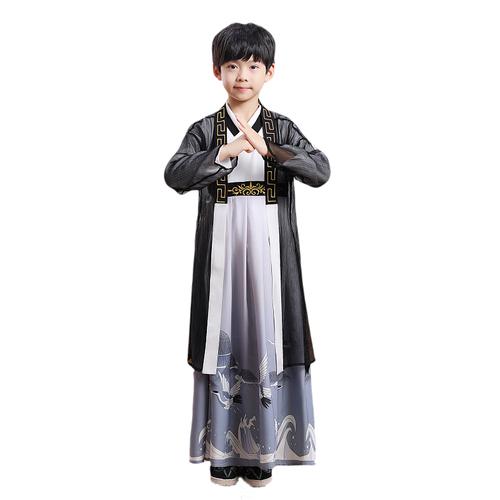 Boy's Hanfu ancient swordsman warrior film performance cosplay costumes for kids