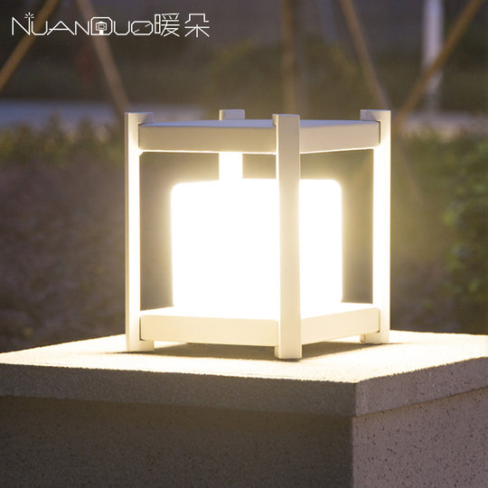 Warm Solar Stadium Men's Users Outside Waterproof Wall Lights Outdoor Gate Lamp Modern Simple Garden Light