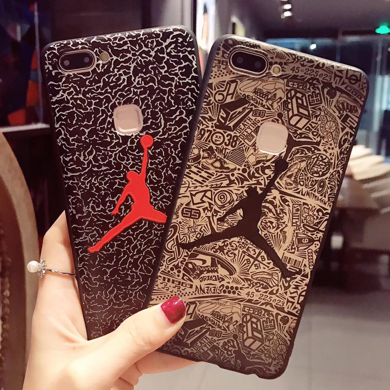 NBA球星乔丹AJ飞人oppoR11软胶R9/R9splus潮vivoX20手机壳X9s/X9