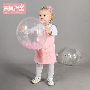 1-5岁女童洋气裙子2018春装新款公主裙春秋吊带裙童装礼服背带裙