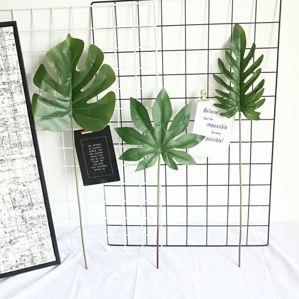 Черепаха задний лист восьмиугольный лист бергамот лист моделирование цветок мягкий чувствовать искусственный поддельный цветок цветок INS ветер домой декоративный украшение