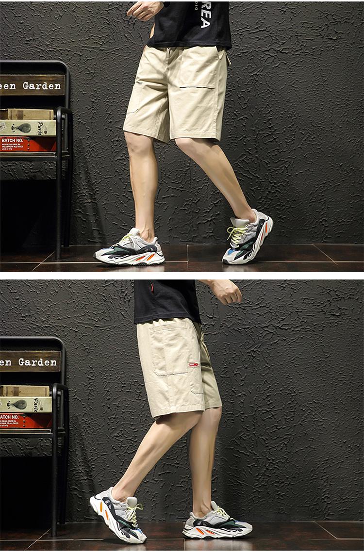 20夏季日系大码潮流多口袋宽松五分裤工装休闲短裤DK302-P35