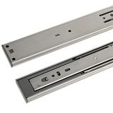 Ящик направляющей из нержавеющей стали, направляющий рельс демпфирование демпфирование без звука трехсекционный рельс компьютерная настольная клавиатура двухсекционная направляющая