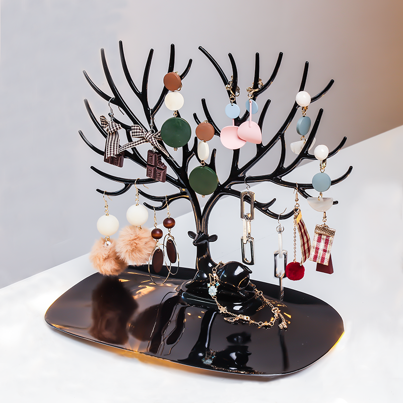 The display stand of the necklace display rack creative hanging earrings of the princess princess Nordic ear nail display board
