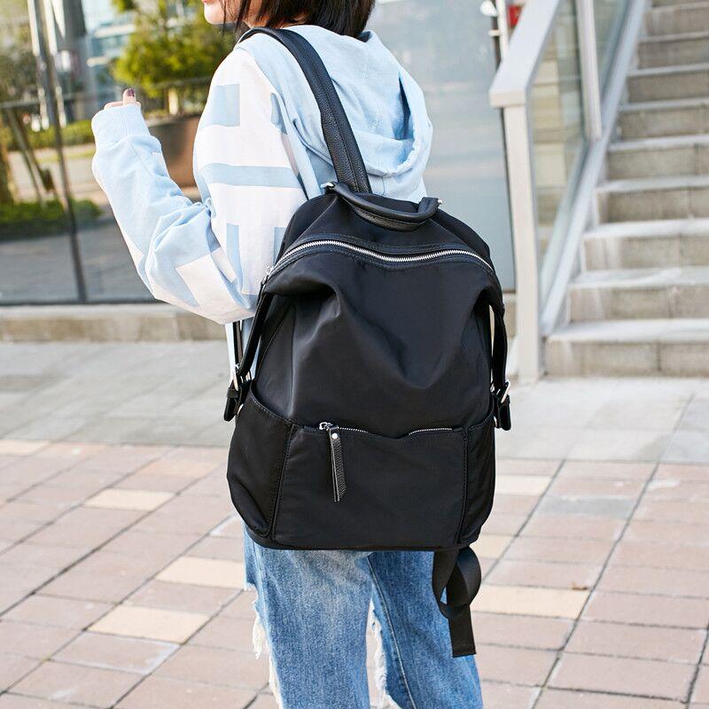 双肩包女2018新款韩版潮牛津布旅行包大容量百搭帆布背包街拍书包