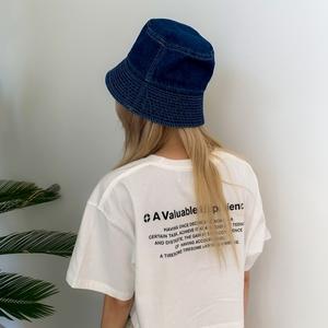 韩国stylenanda官方正品 车线帽檐牛仔渔夫帽