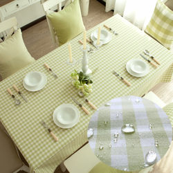 Tablecloth garden Xiaoqing new table cloth tablecloth tea several cloth green small lattice lace waterproof