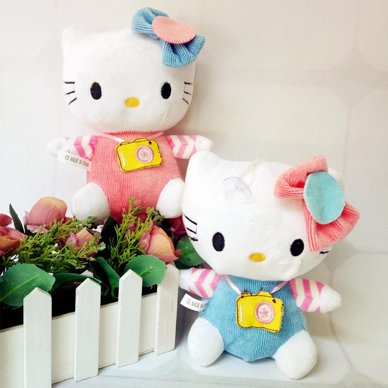 新款相机hellokitty猫毛绒玩具结婚庆布娃娃情侣KT公仔圣诞节礼物