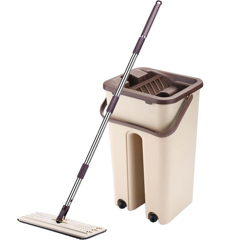 免手洗平板拖把家用懒人木地板干湿一拖两用净吸水墩拖布地拖神器
