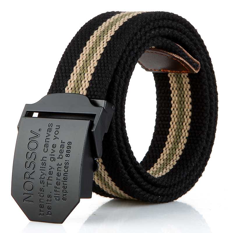 N17 black buckle black stripes