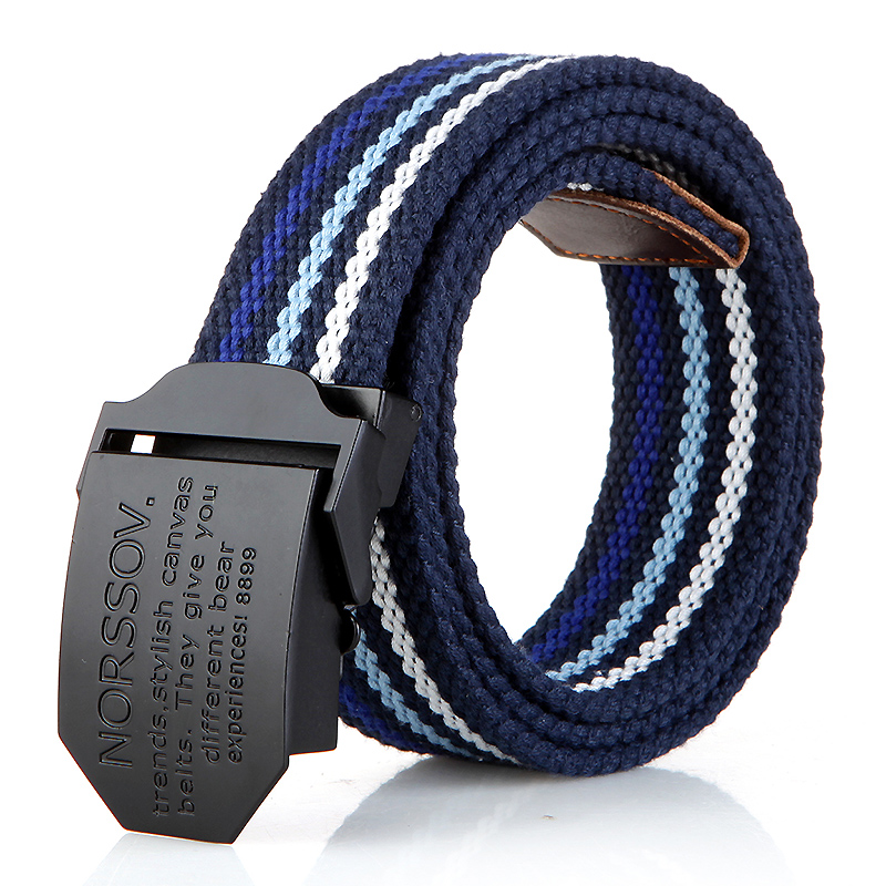 N17 black buckle sky blue stripes