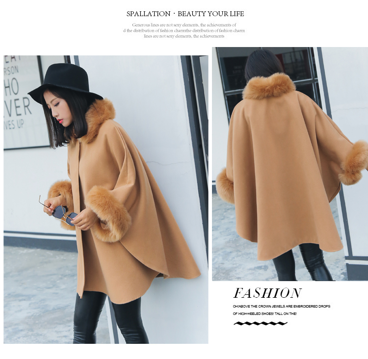 Korean version Polyester High temperature stereotypes coat (Camel-2XL)NHYF1326-Camel-2XL