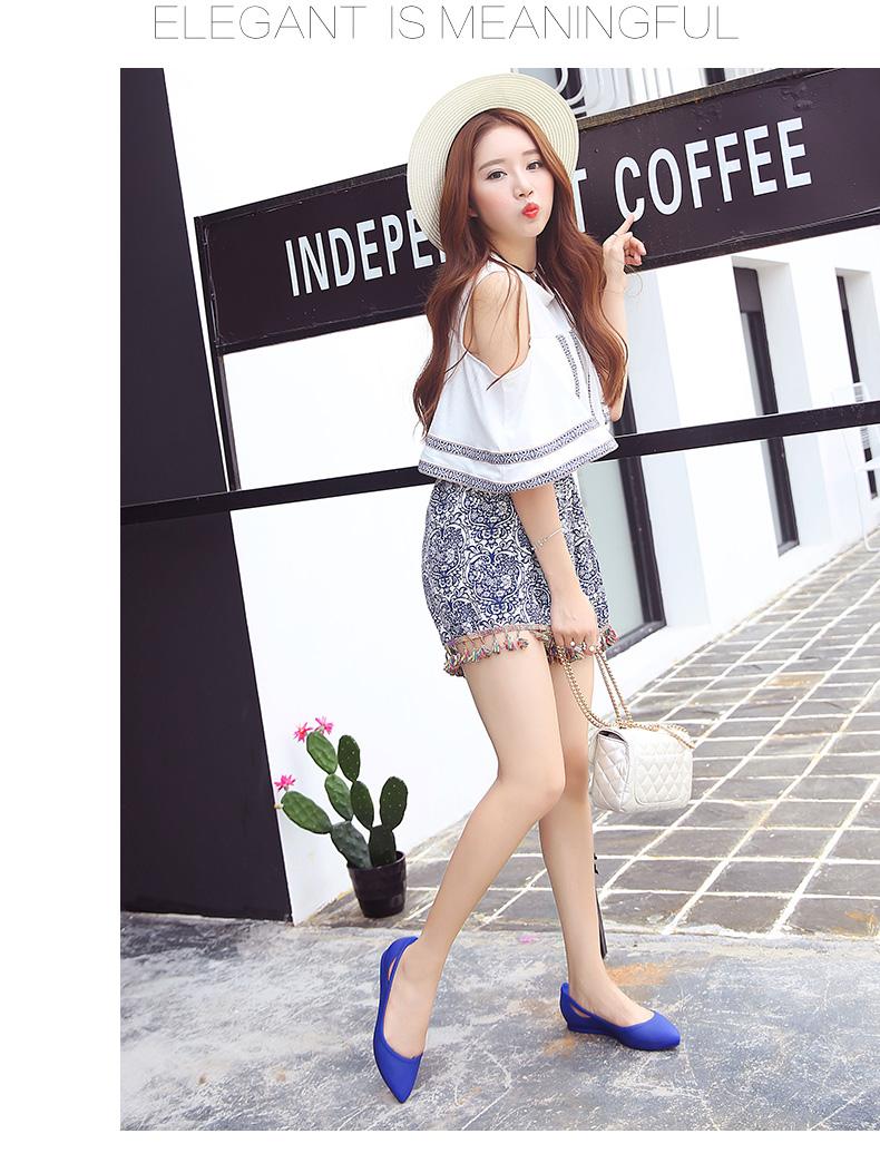 Giày búp bê đế bằng - giày nữ màu hồng dễ thương, thoải mái- giày y tá chuyên dụng- giày nhựa nữ
