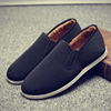 Old Beijing cloth shoes work shoes men's middle-aged father shoes a pedal warm and velvet autumn non-slip winter cotton shoes