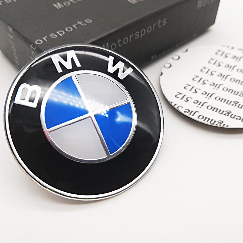 宝马车标BMW前后标3系5系X3X5方向盘标摩托车个性标志改装车贴