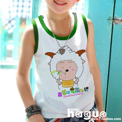 Lazy sheep sheep sheep and gray wolf baby children's clothing boys and girls loose sweat vest 17 boy summer