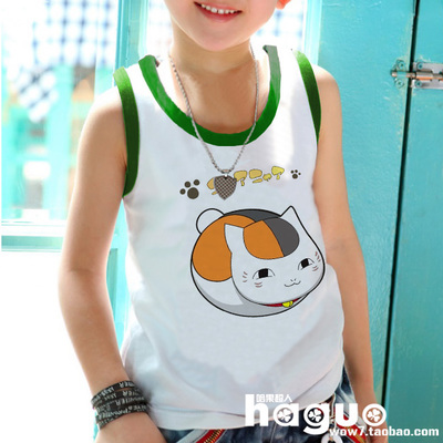 Three or three Natsume friends account baby children's clothing boys and girls loose sweat vest 26 boys summer